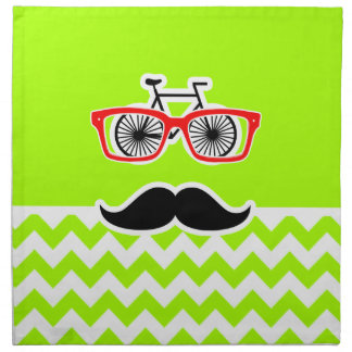 Electric Neon Lime Green Chevron; Funny Hipster Napkin