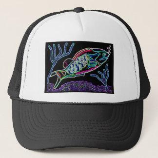 Electric Neon Parrotfish Trucker Hat