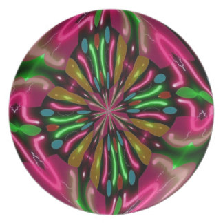 Electric Neon Plate