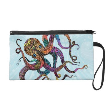 Beach Themed Electric Octopus Bagettes Bag
