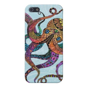 Beach Themed Electric Octopus Case Savvy iPhone 5 Case