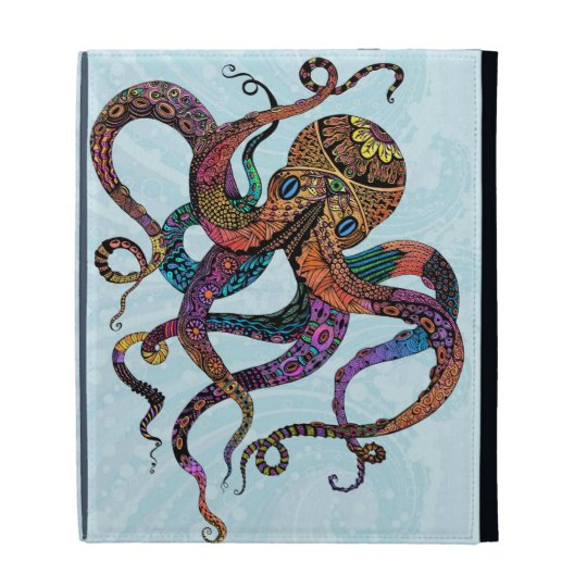 Electric Octopus iPad Folio Case