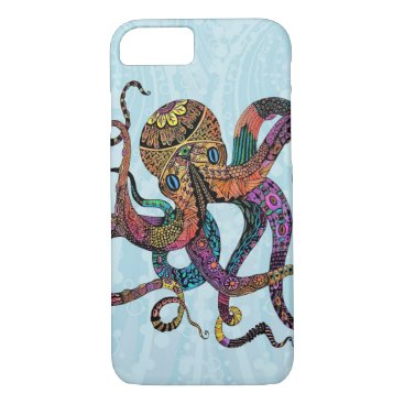Beach Themed Electric Octopus iPhone 7 case