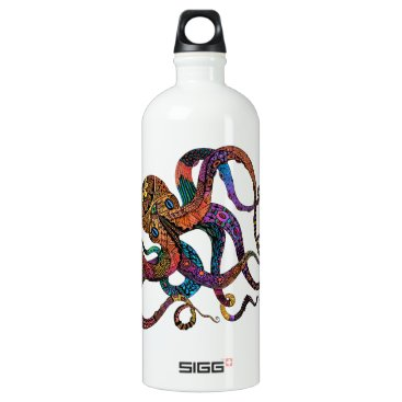 Beach Themed Electric Octopus Liberty Bottle