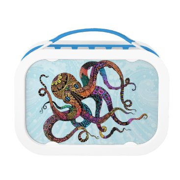 Beach Themed Electric Octopus Lunchbox