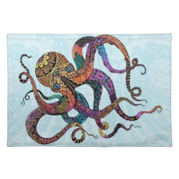 Beach Themed Electric Octopus Placemats