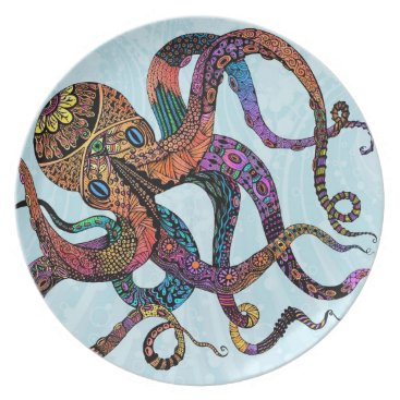 Beach Themed Electric Octopus Plate