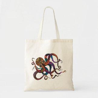 Electric Octopus Tote Bag