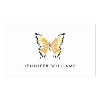 ELECTRIC ORANGE BUTTERFLY LOGO on WHITE Double-Sided Standard Business Cards (Pack Of 100)