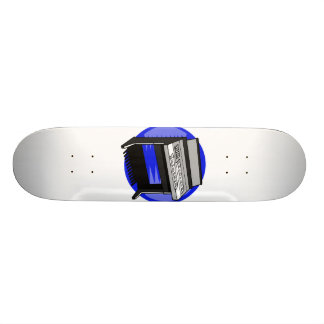 Electric Organ Blue Background Music Graphic Skateboard
