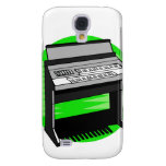 Electric Organ Green Background Music Graphic Samsung Galaxy S4 Cover