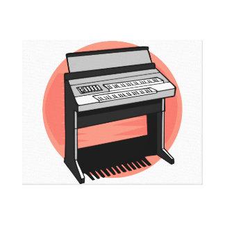 Electric Organ Peach Background Canvas Print