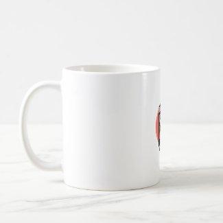 Electric Organ Peach Background mug