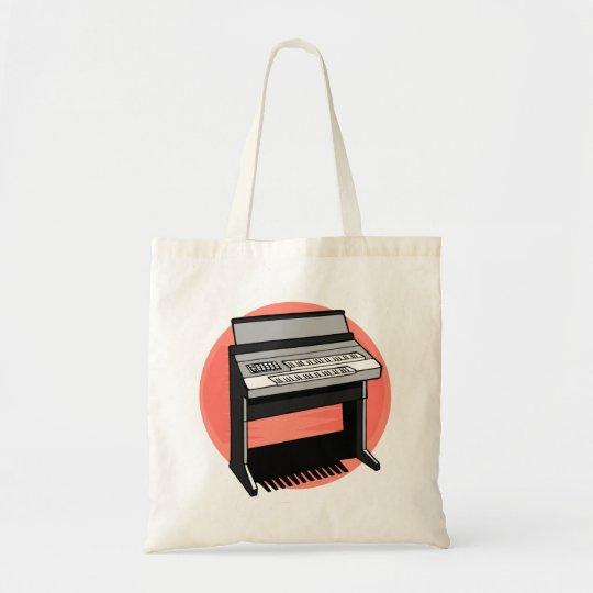 Electric Organ Peach Background Tote Bag