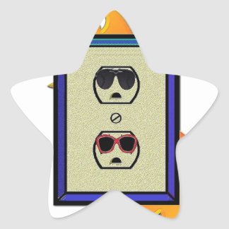 electric oulet star sticker