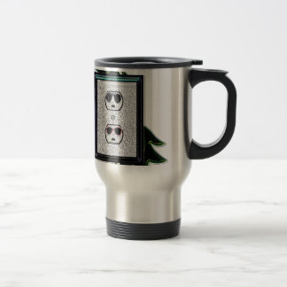 electric outlet co-ed 15 oz stainless steel travel mug