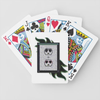 electric outlet co-ed bicycle playing cards