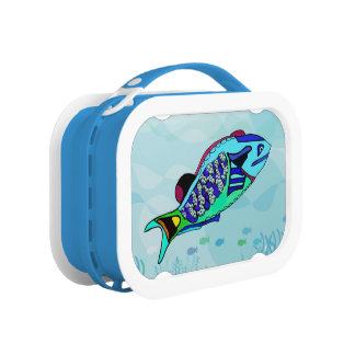 Electric Parrotfish Lunch Box