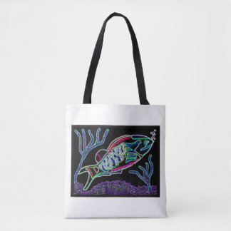 Electric Parrotfish Tote Bag
