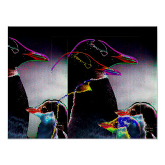 Electric Penguins for President Posters