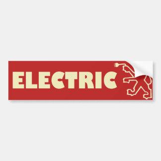 Electric Peugeot Bumper Sticker Car Bumper Sticker