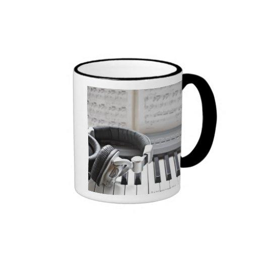 Electric Piano Keyboard Mugs