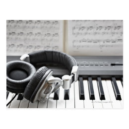 Electric Piano Keyboard Postcard