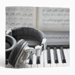 Electric Piano Keyboard Vinyl Binders