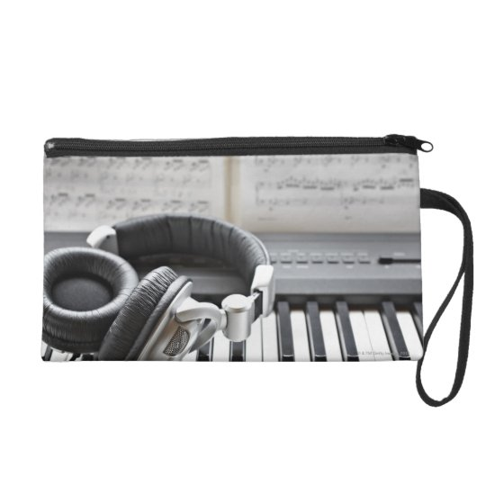 Electric Piano Keyboard Wristlet