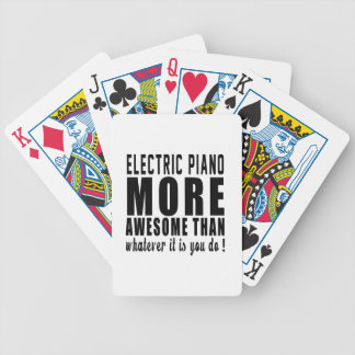 Electric Piano more awesome than whatever it is yo Bicycle Playing Cards