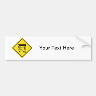 Electric Piano Synthesizer Xing Sign Bumper Sticker