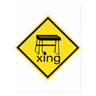 Electric Piano Synthesizer Xing Sign Postcard