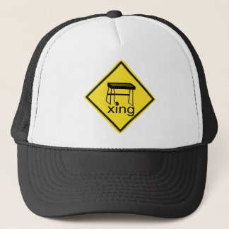Electric Piano Synthesizer Xing Sign Trucker Hat