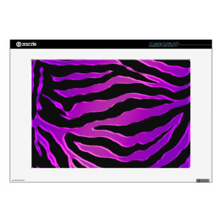"Electric Pink and Purple Glitter Zebra Skins 15"" Laptop Skin"