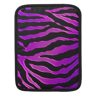 Electric Pink and Purple Glitter Zebra Skins iPad Sleeve