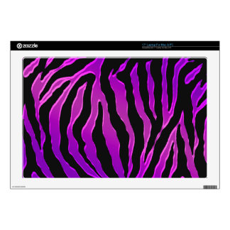 Electric Pink and Purple Glitter Zebra Skins Laptop Decal