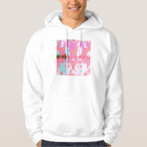 Electric Pink Cubes Graphic Design Hoodie