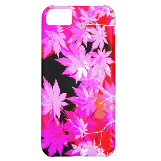 Electric pink Japanese maple rasterized iPhone 5C Case
