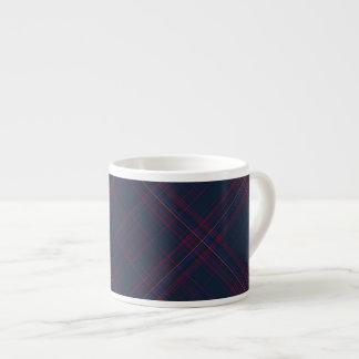 Electric Plaid Espresso Mug 6 Oz Ceramic Espresso Cup