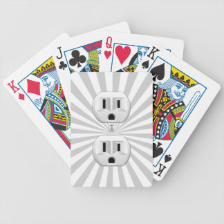 Electric Plug Wall Outlet Fun Customize This! Bicycle Playing Cards