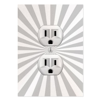 Electric Plug Wall Outlet Fun Customize This! Business Card