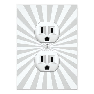 Electric Plug Wall Outlet Fun Customize This! Card