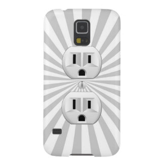 Electric Plug Wall Outlet Fun Customize This! Case For Galaxy S5