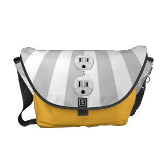 Electric Plug Wall Outlet Fun Customize This! Courier Bag