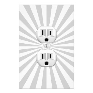 Electric Plug Wall Outlet Fun Customize This! Flyer