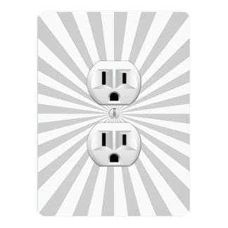 Electric Plug Wall Outlet Fun Customize This! Personalized Invites