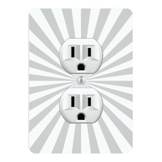 Electric Plug Wall Outlet Fun Customize This! Invites