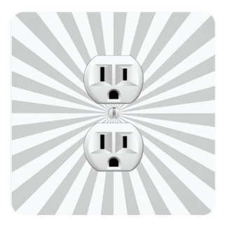 Electric Plug Wall Outlet Fun Customize This! Personalized Announcement