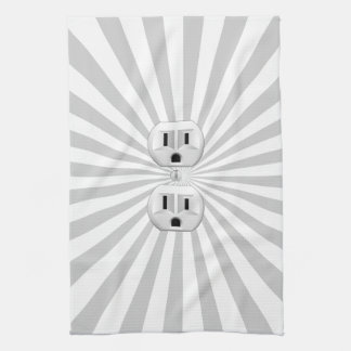 Electric Plug Wall Outlet Fun Customize This! Kitchen Towel