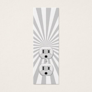 Electric Plug Wall Outlet Fun Customize This! Mini Business Card